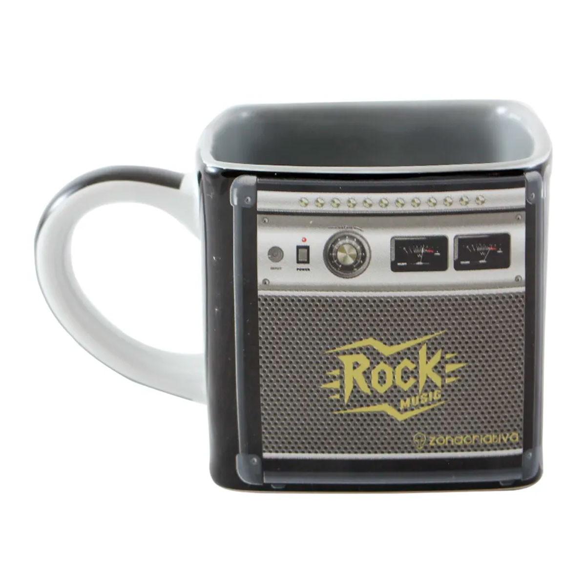 Caneca Quadrada Cubo Amplificador Rock Music FBA