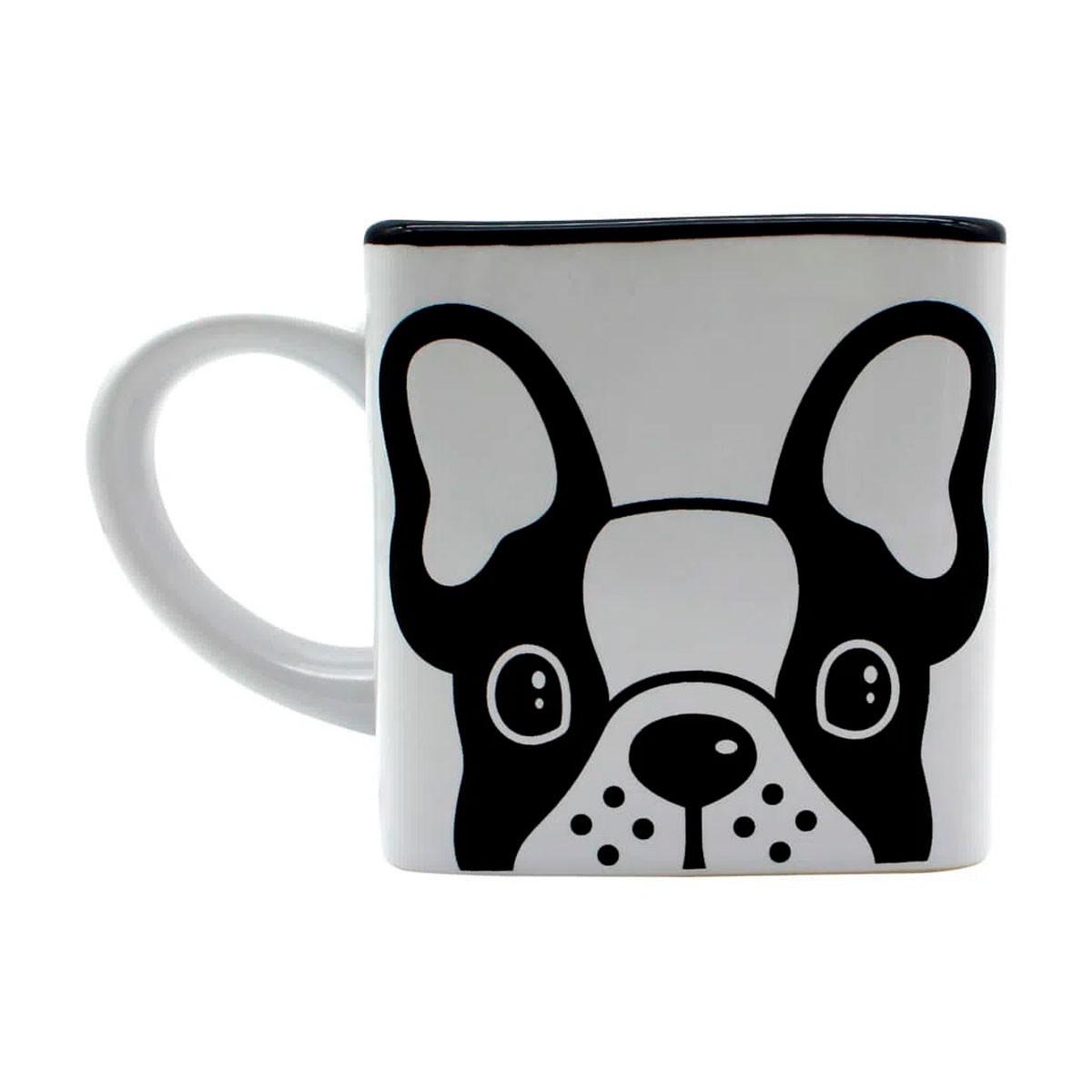 Caneca Quadrada Cubo Bulldog