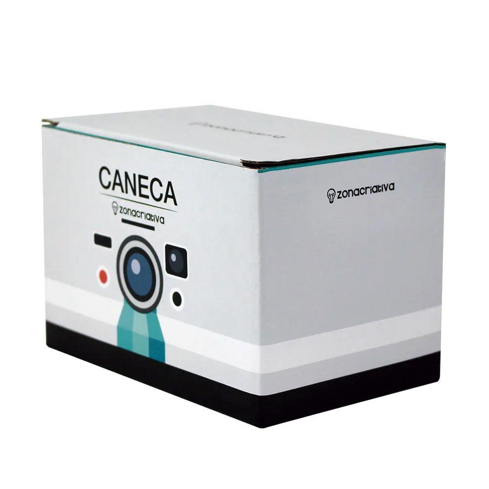 Caneca Quadrada Cubo Câmera Fotográfica