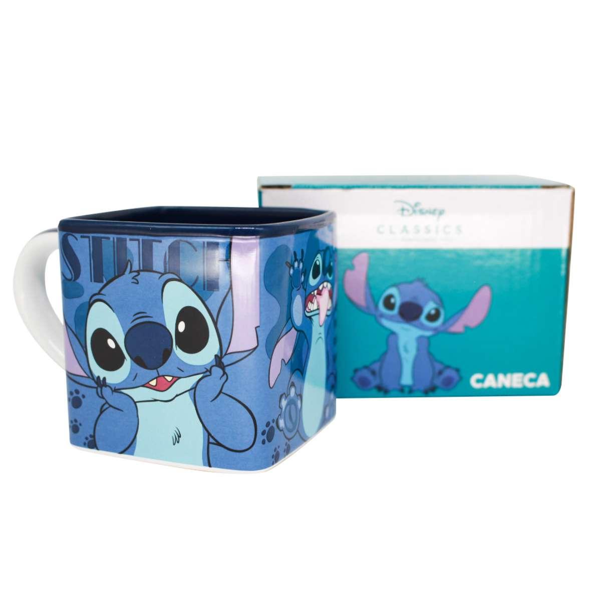 Caneca Quadrada Cubo Stitch Disney