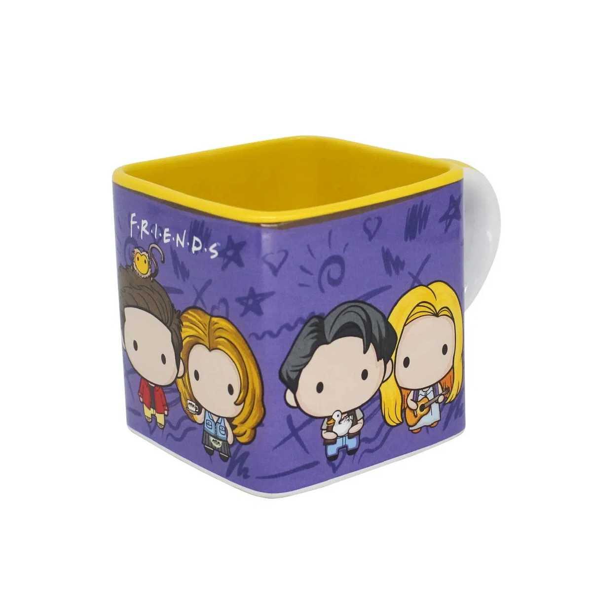 Caneca Quadrada Cubo Friends Personagens