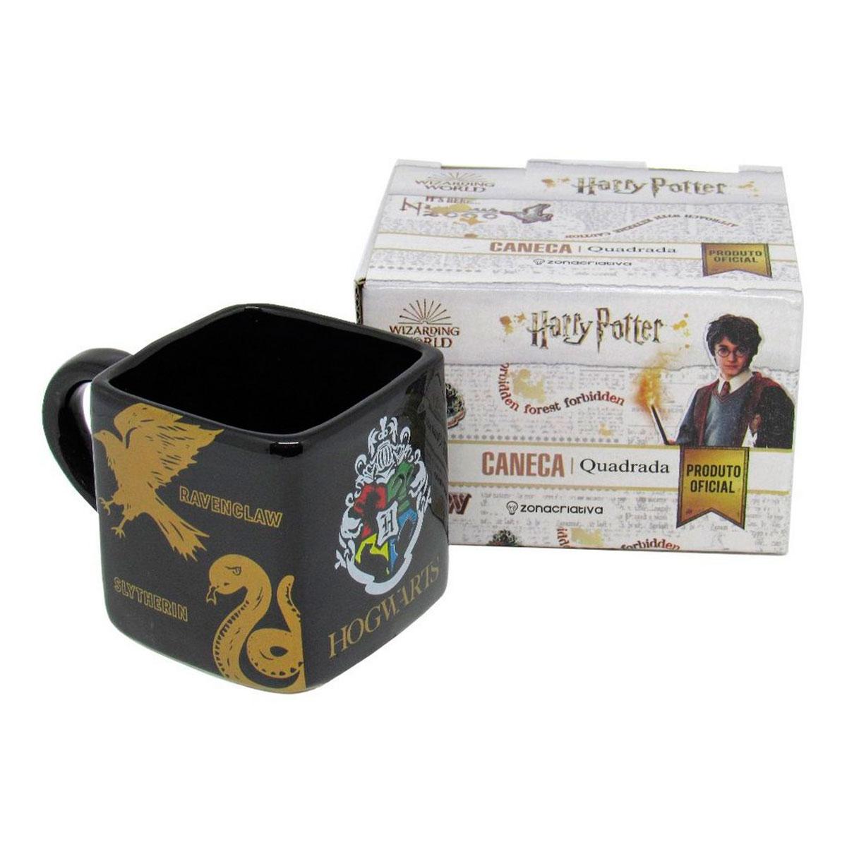 Caneca Quadrada Cubo Harry Potter Hogwarts Casas