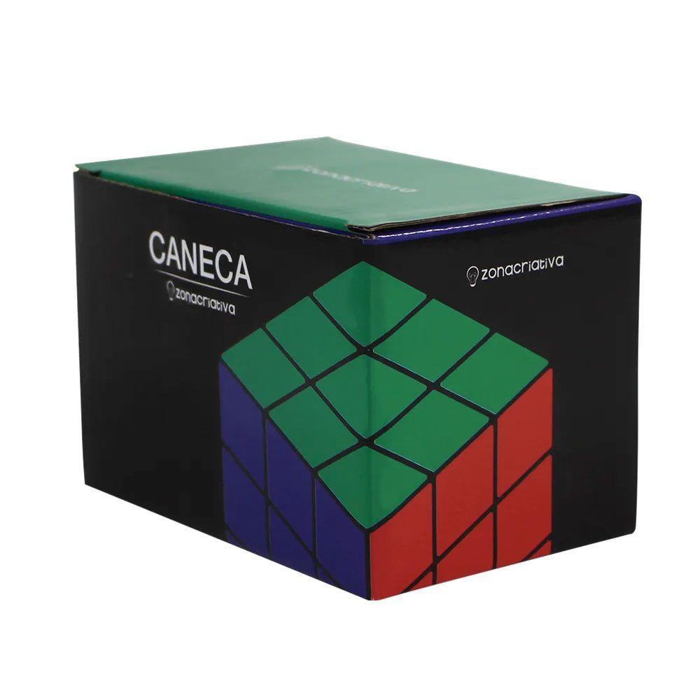 Caneca Quadrada Cubo Mágico Rubik