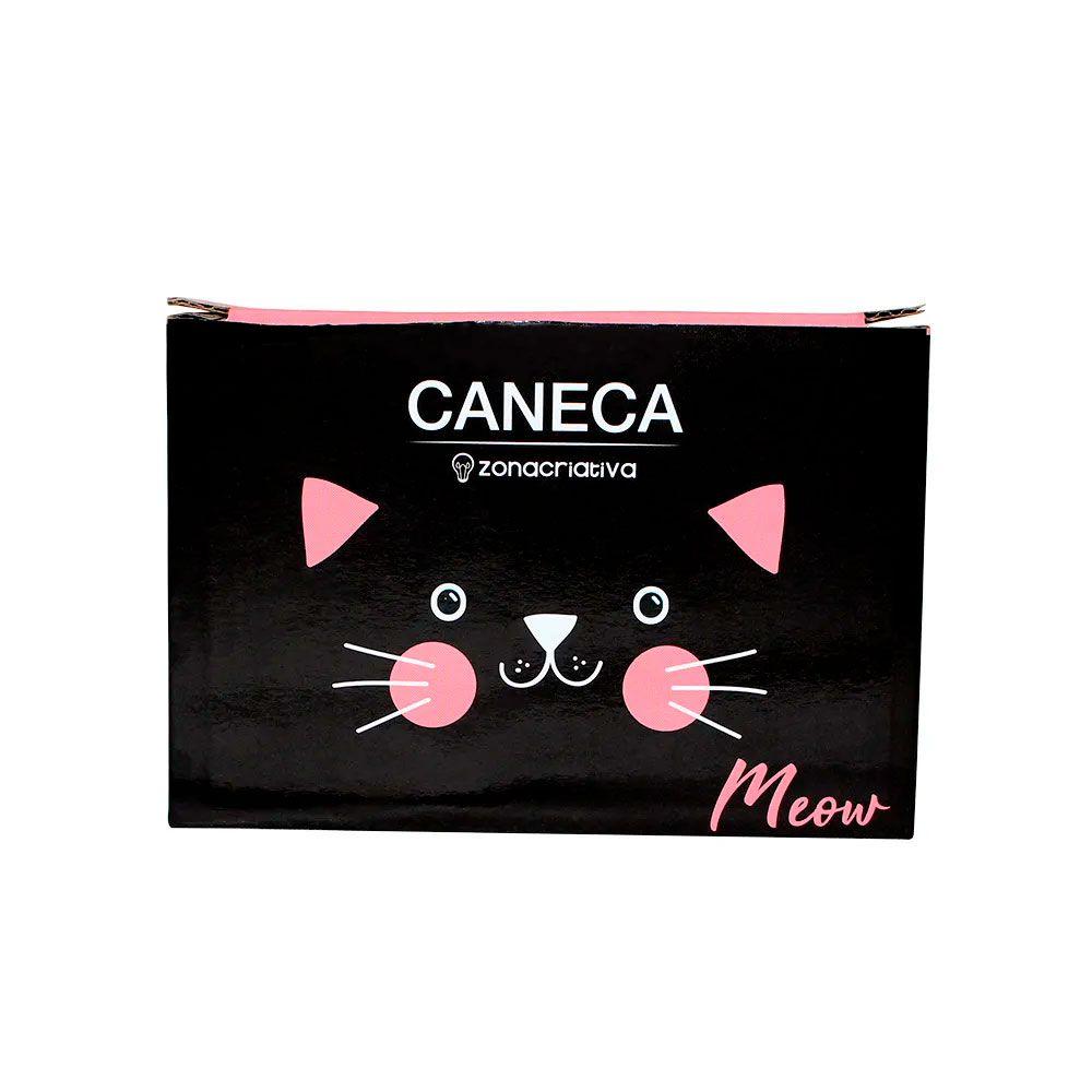 Caneca Quadrada Cubo Meow Gatinha