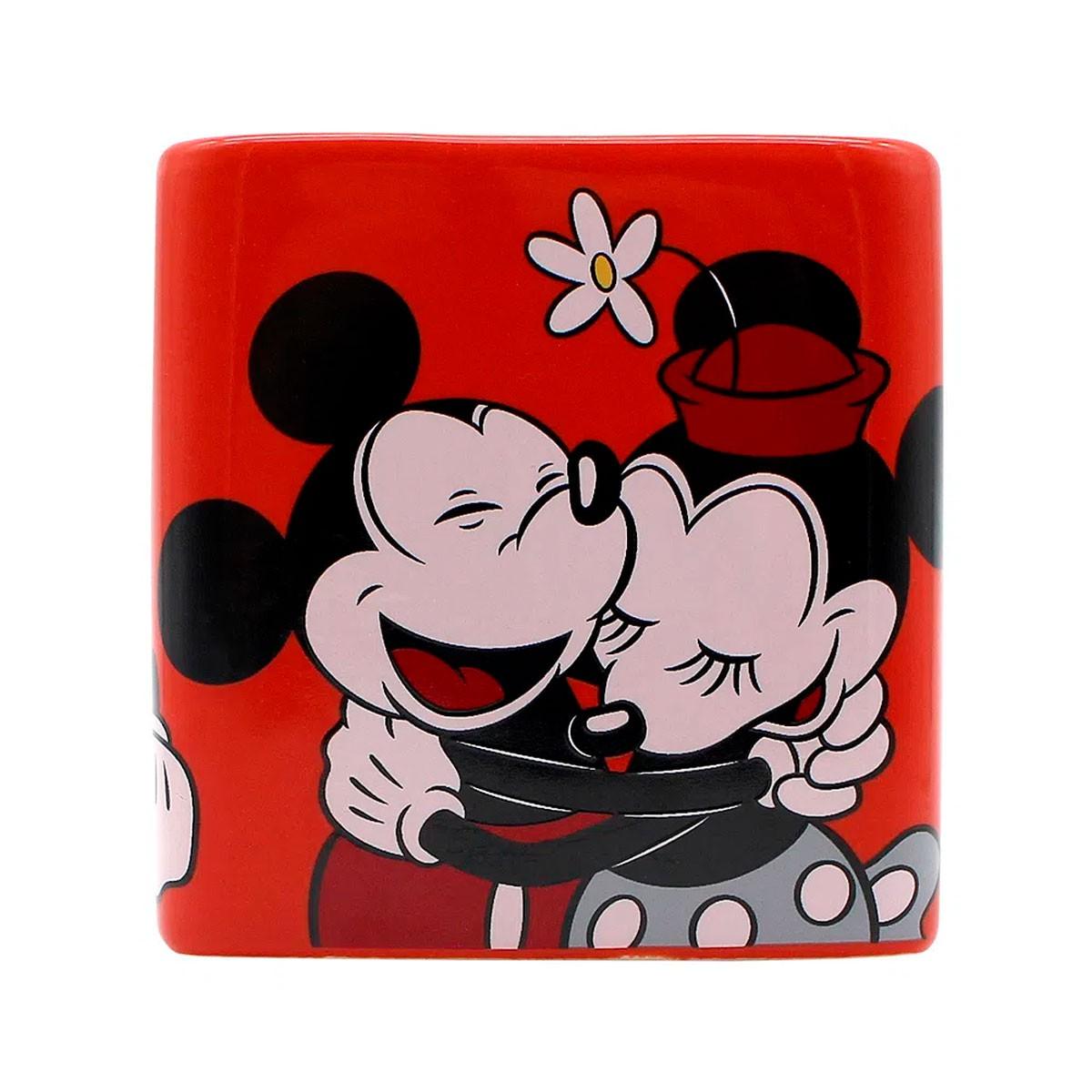 Caneca Quadrada Cubo Mickey e Minnie