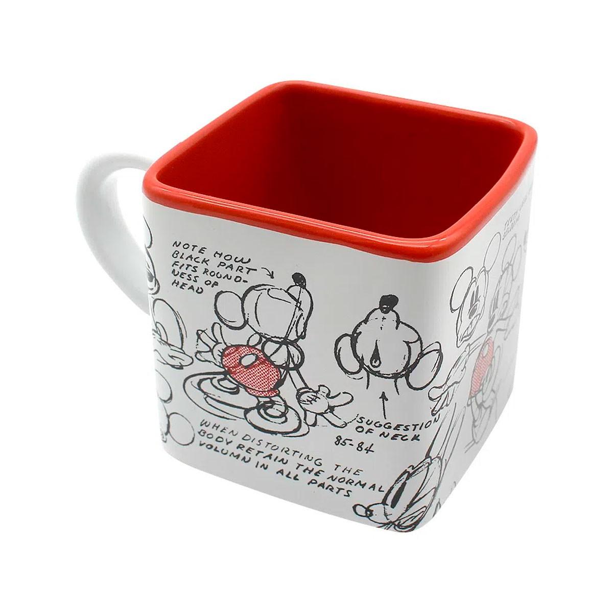 Caneca Quadrada Cubo Mickey Rabisco