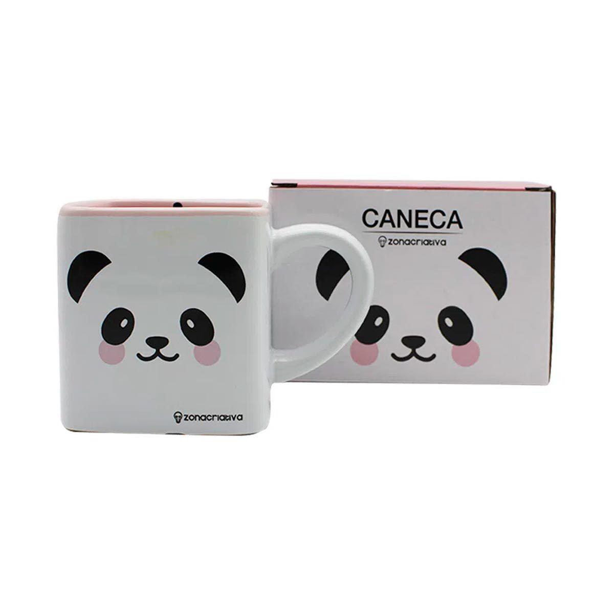Caneca Quadrada Cubo Panda
