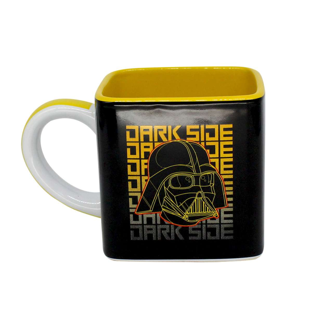 Caneca Quadrada Cubo Star Wars Guerra nas Estrelas Darth Vader