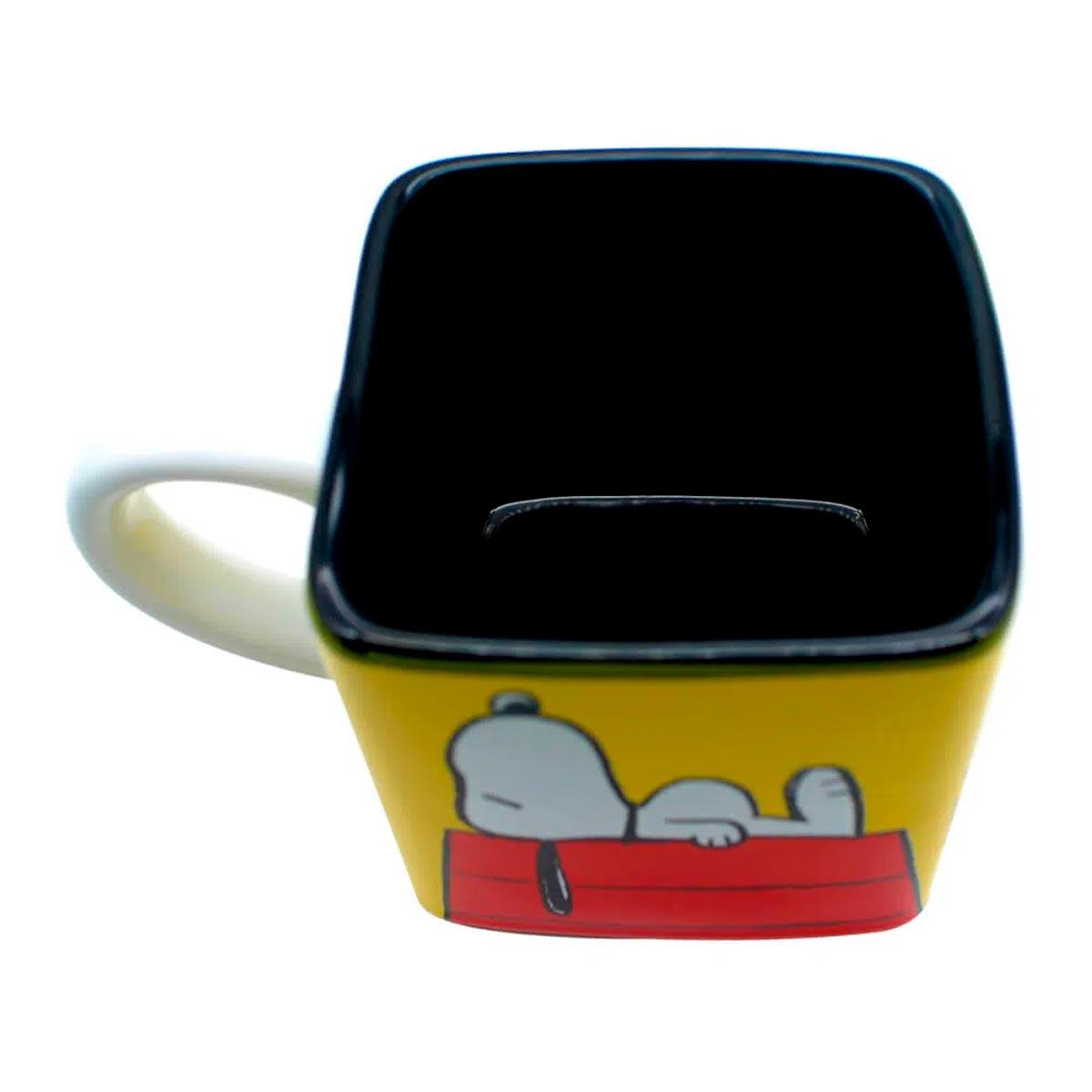 Caneca Quadrada Cubo Turma Snoopy
