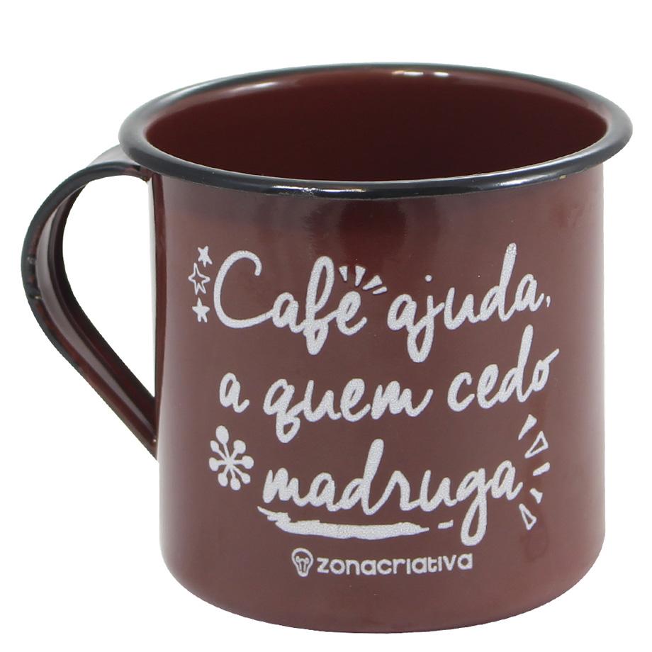 Caneca Retrô Café Ajuda A Quem Cedo Madruga