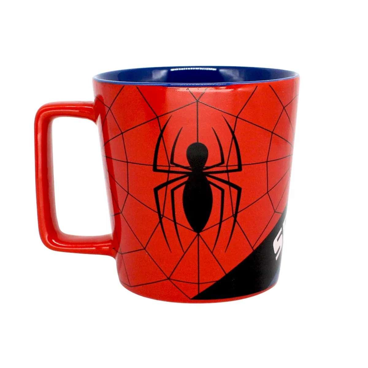 Caneca Spider Man Homem Aranha Teia Marvel