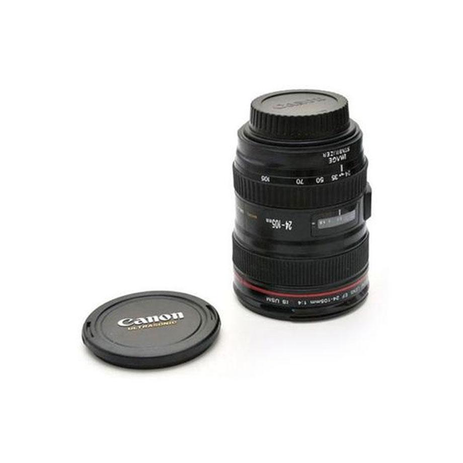 Caneca Termica Lente Canon 24-105mm - Copo De Alumínio