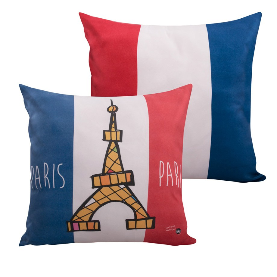Capa de Almofada - Paris