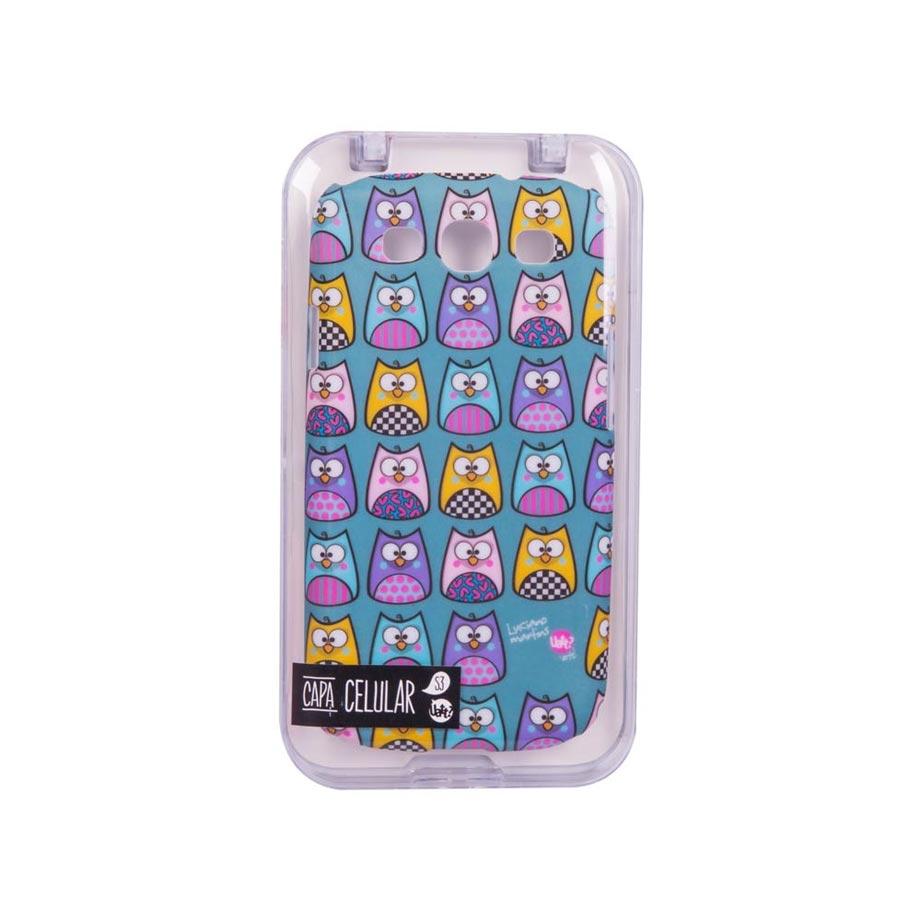 Capa para Celular Galaxy S3 Stamp - Corujinhas