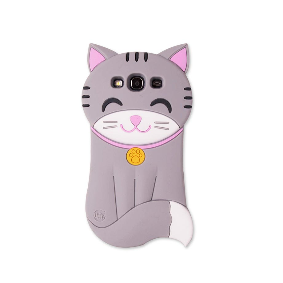 Capa para Celular Galaxy S3 Super Divertida - Gatinho