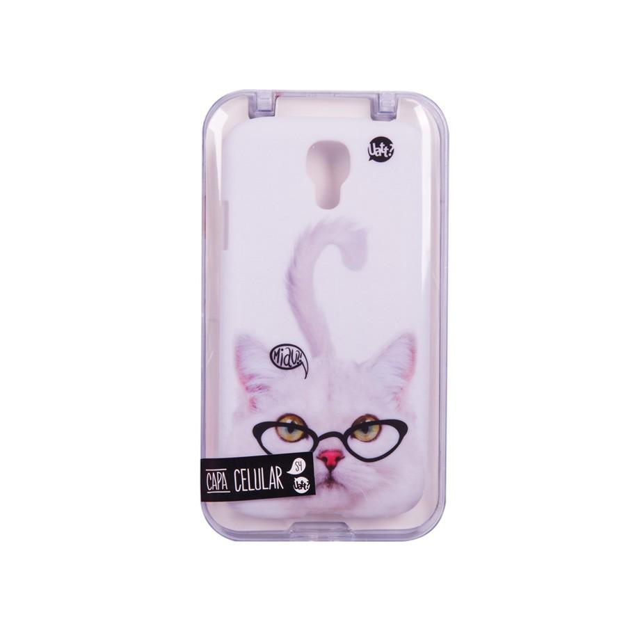 Capa para Celular Galaxy S4 Stamp - Gato