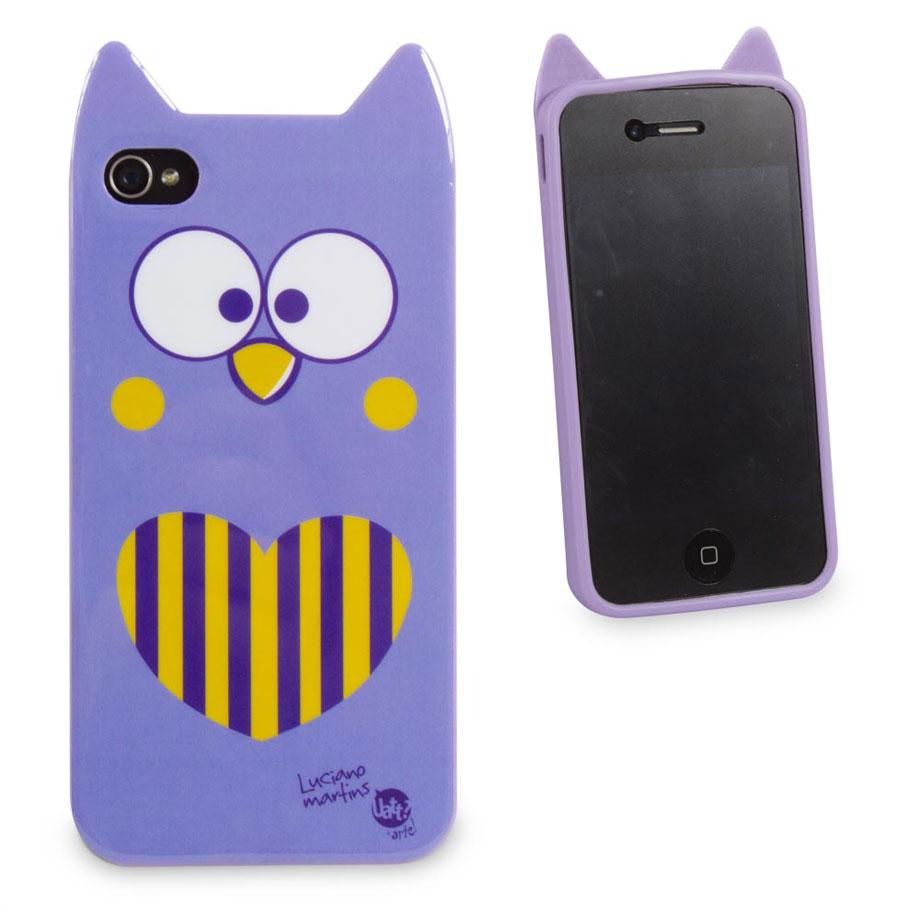 Capa para Celular Iphone 4 Animal - Coruja