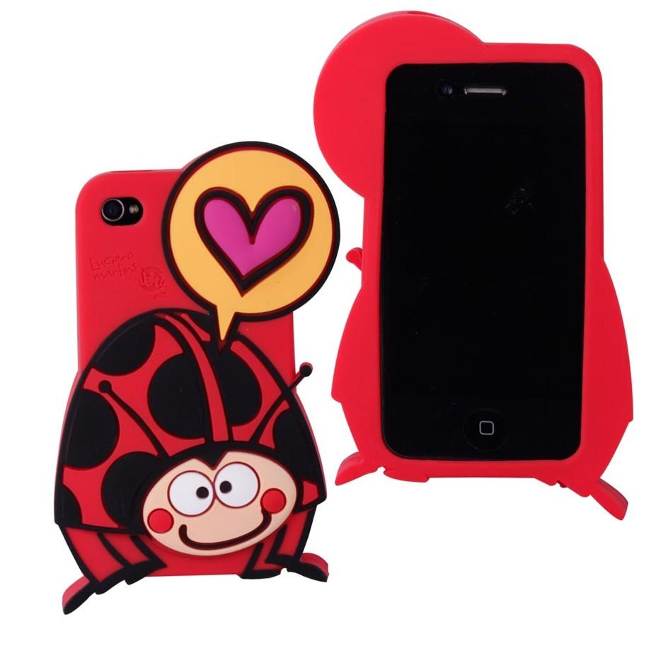 Capa para Celular Iphone 4 Divertida Super - Joaninha