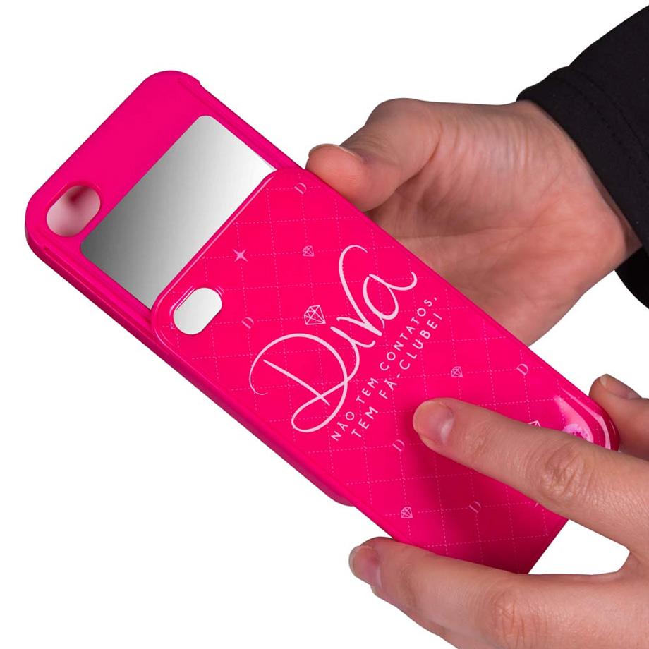 Capa Para Iphone 4 Diva Espelho - Pink