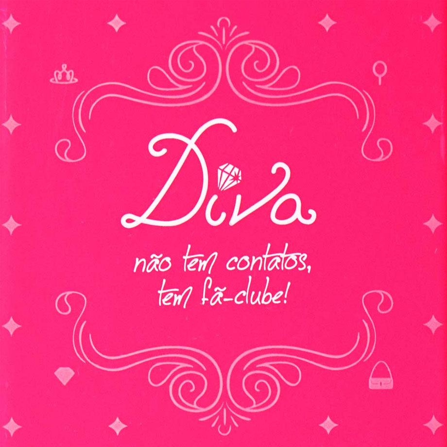 Capa para celular iphone 4/4s stamp - diva