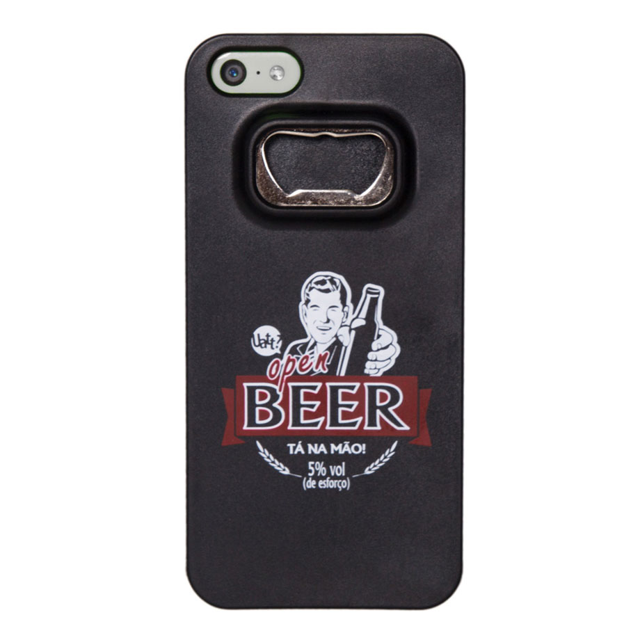 Capa para celular iphone 5/5s abridor - open beer