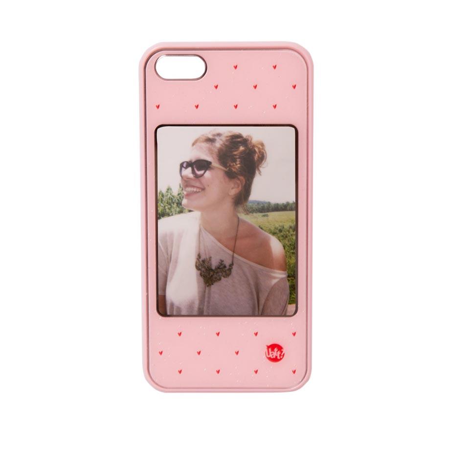 Capa para Celular Iphone 5 5s Retratos - Rosa