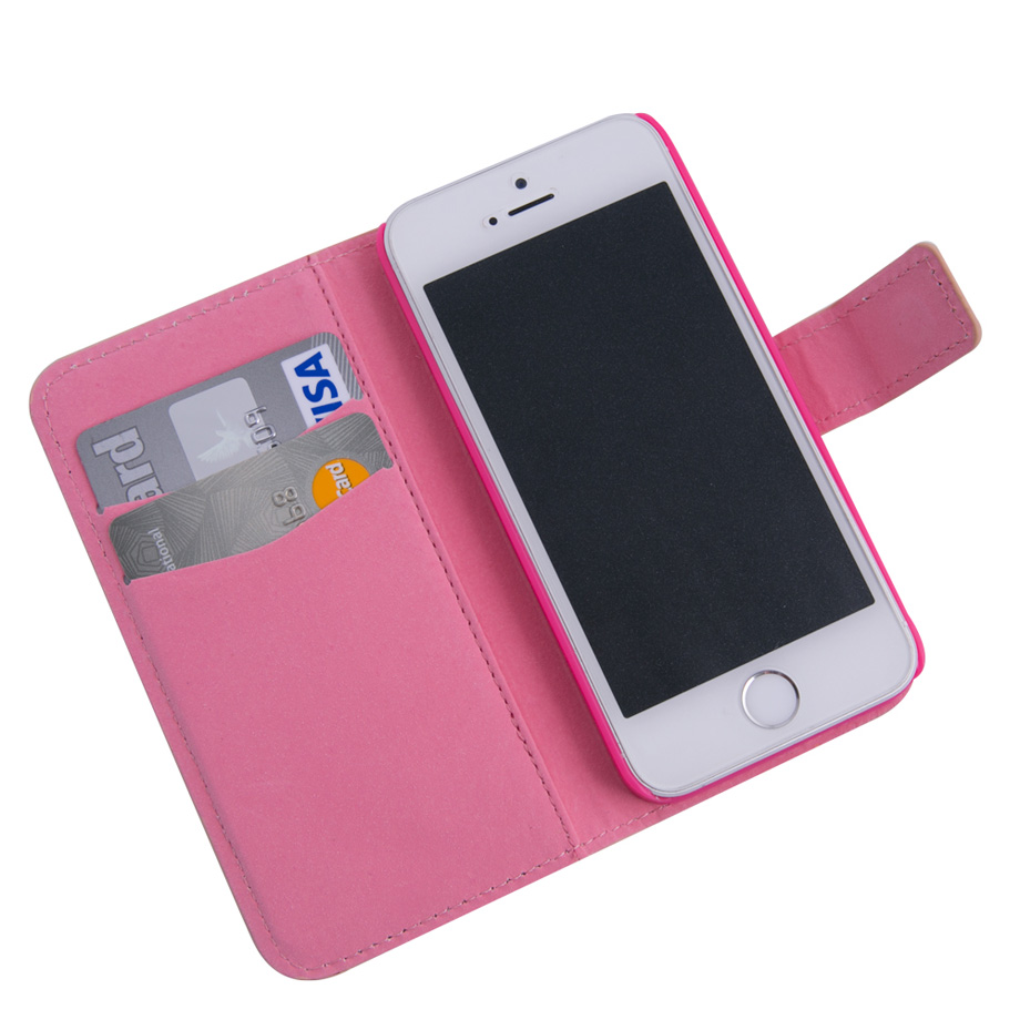 Capa para Celular Iphone 5 Carteira - Luxo
