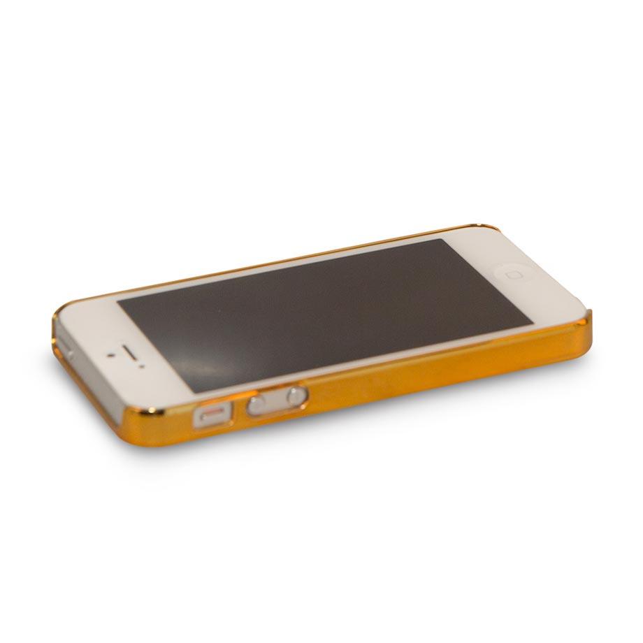 Capa para Celular Iphone 5 5s Espelho - Dourado