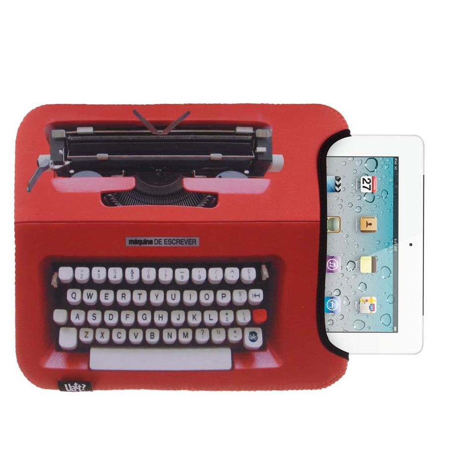 Capa para Tablet Fácil - Máquina de Escrever