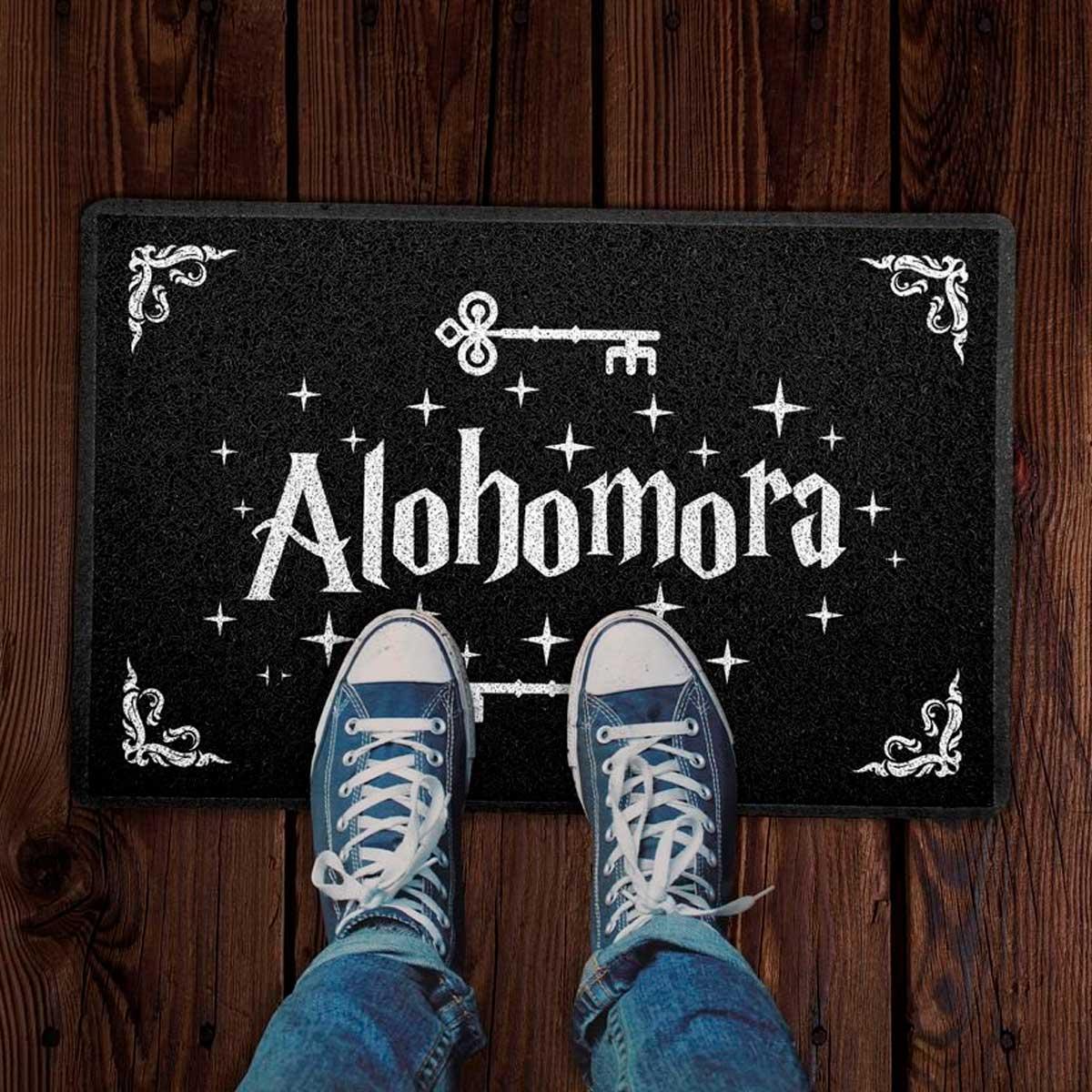 Capacho Decoração Geek 60x40cm Alohomora Harry Potter
