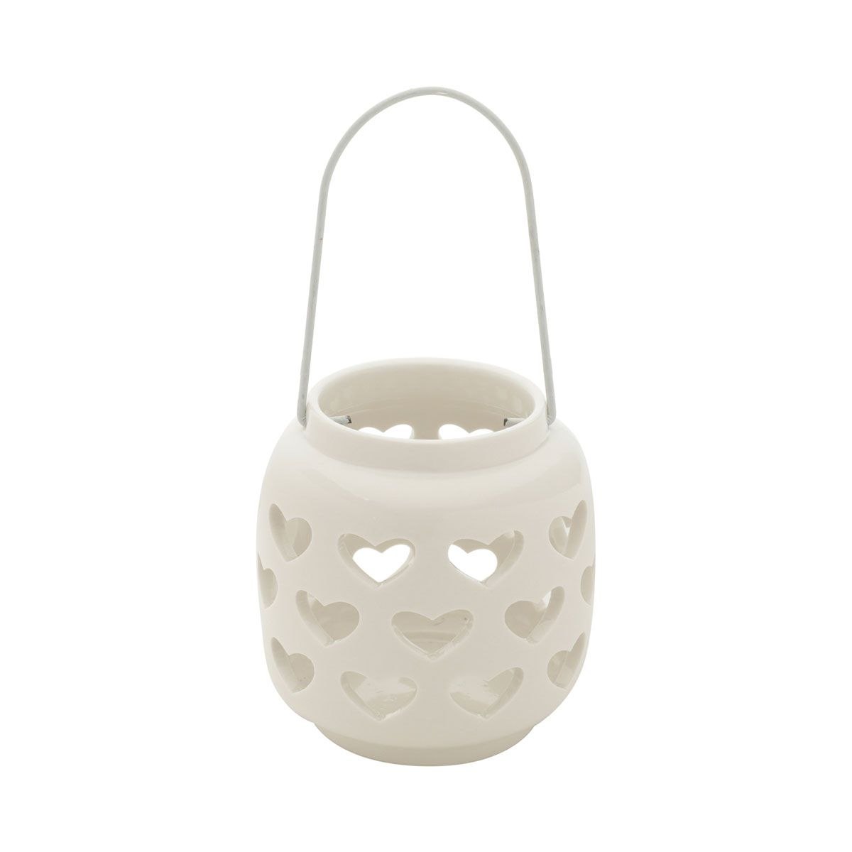 Castiçal Porta Vela Decorativo Porcelana Coração Heart Shape