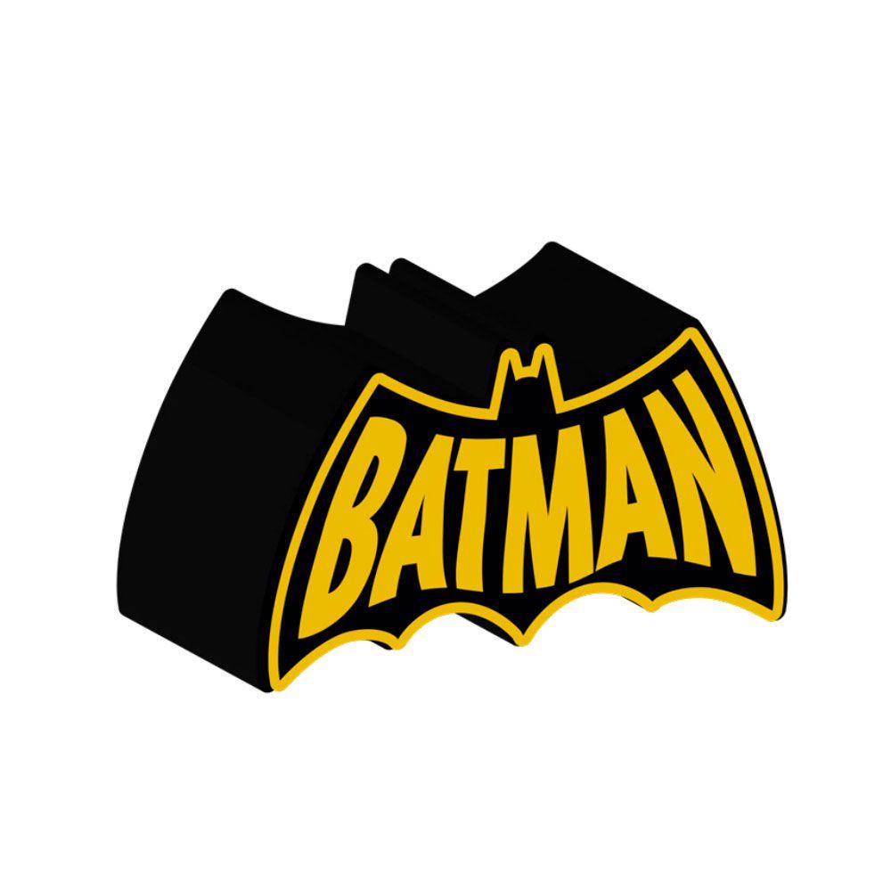 Cofre Cerâmica Decorativo Batman Bat DC Comics Preto e Amarelo