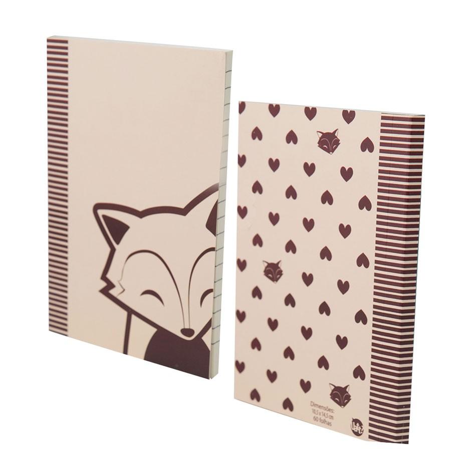 Conjunto Caderno e Caderneta Raposa