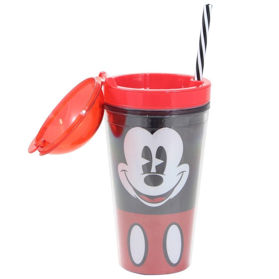 Copo Canudo 2 em 1 Mickey Face