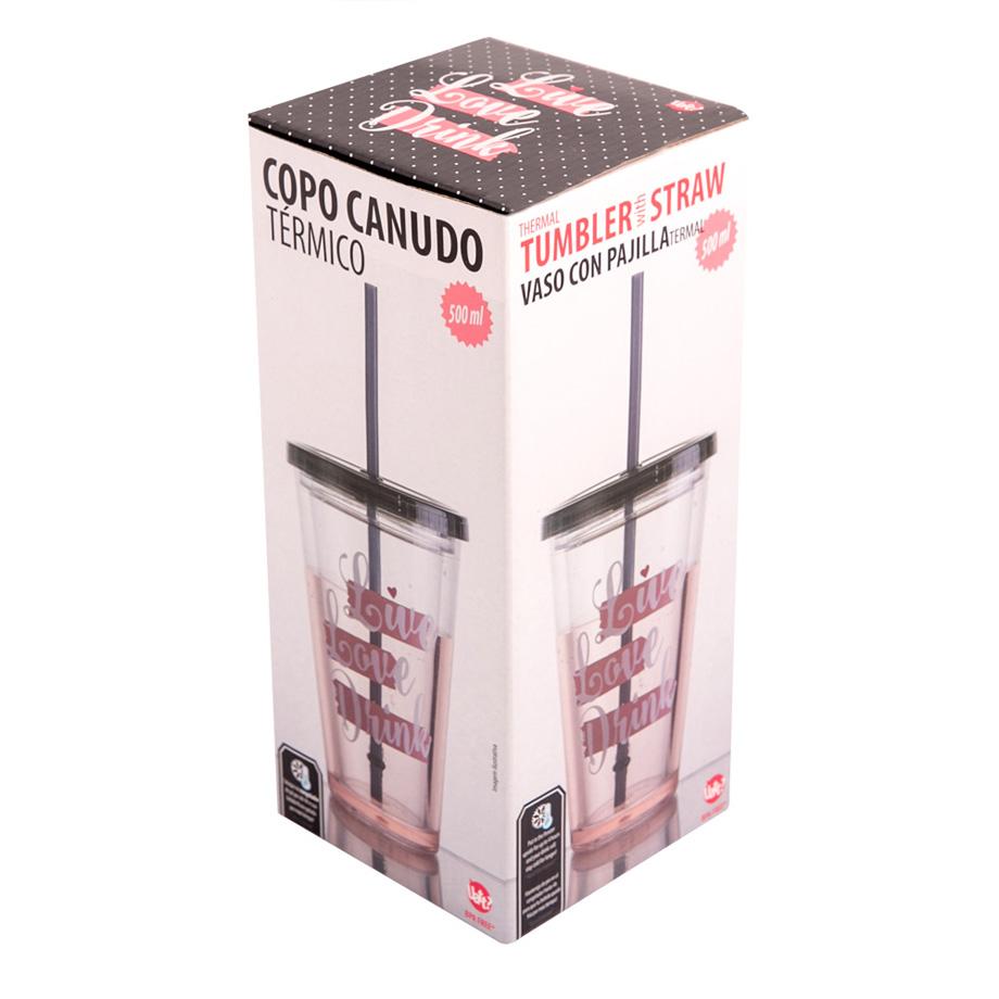 Copo Canudo com Água - Live Love Drink