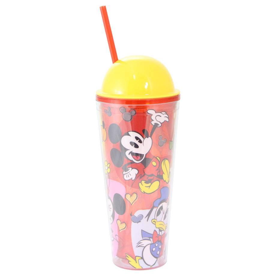 Copo Canudo com Tampa Turma do Mickey