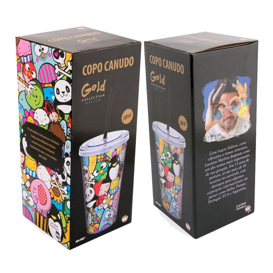 Copo Canudo - Gold Collection Luciano Martins