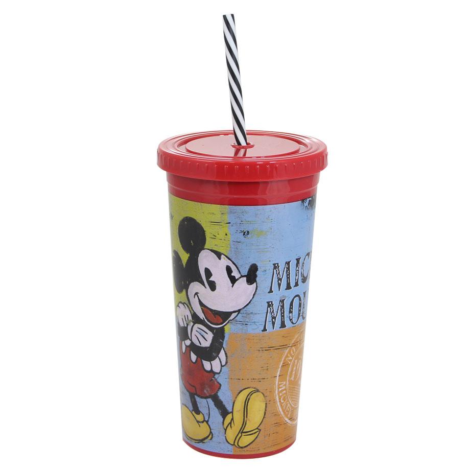 Copo Canudo Malibu Mickey