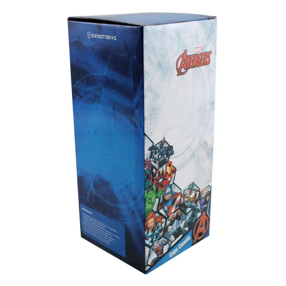 Copo Canudo Metálico Homem de Ferro 650 ml - Vingadores