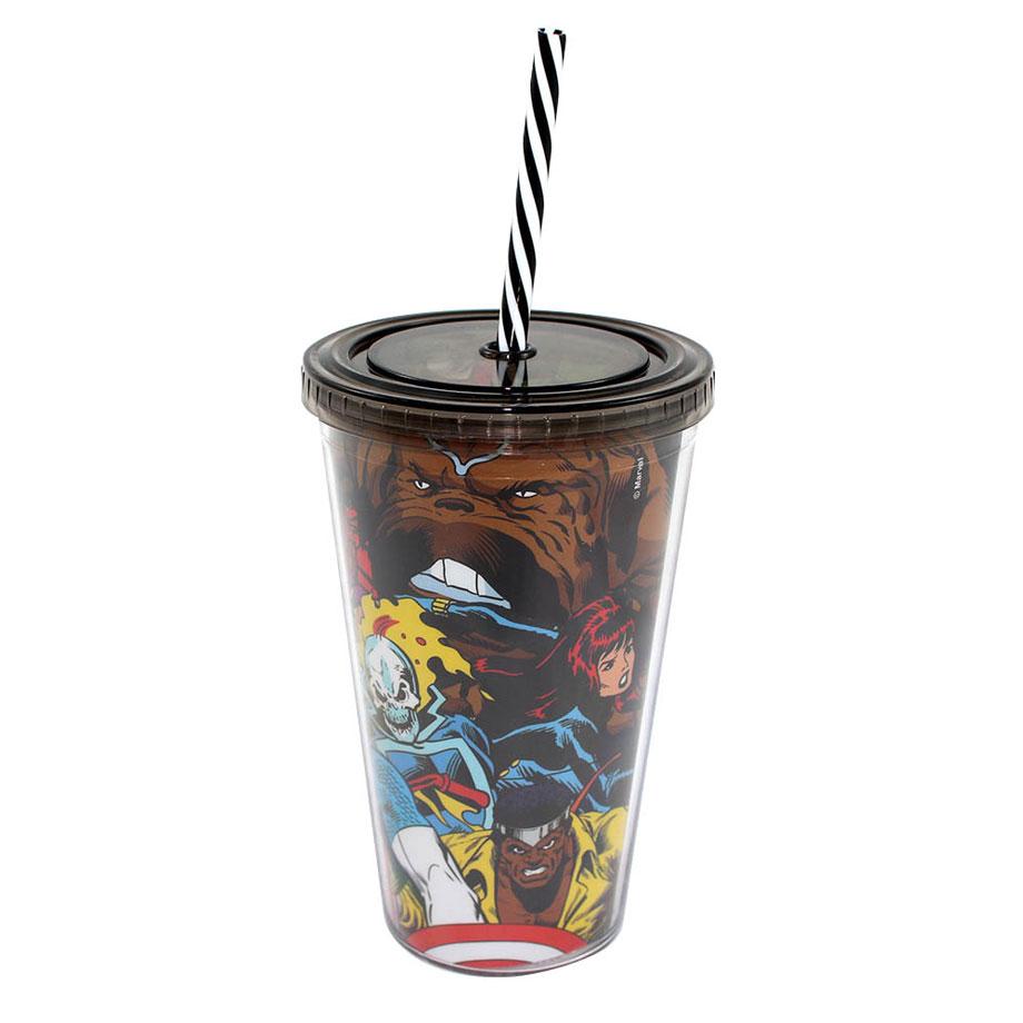 Copo Canudo Turma de Heróis Marvel