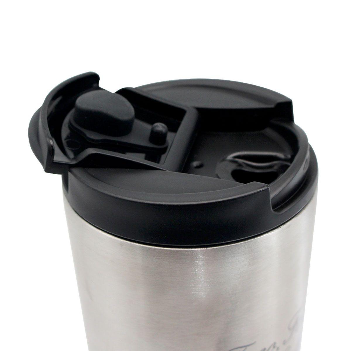 Copo Para Viagem Foco, Força e Café 400 ml
