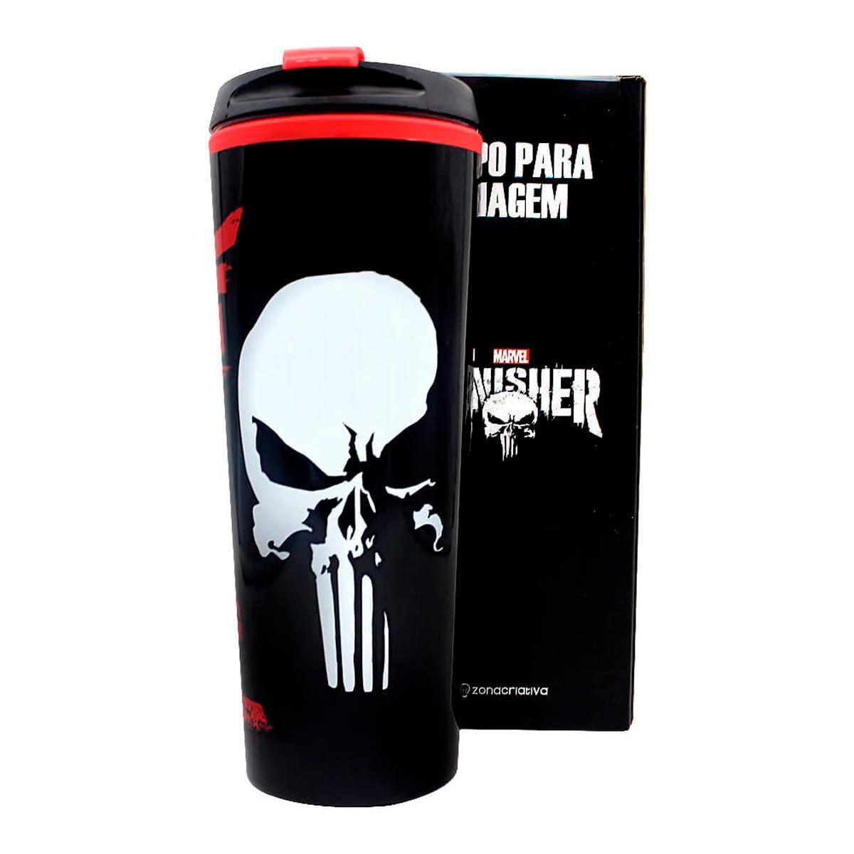 Copo Para Viagem Justiceiro Punisher 450 ml
