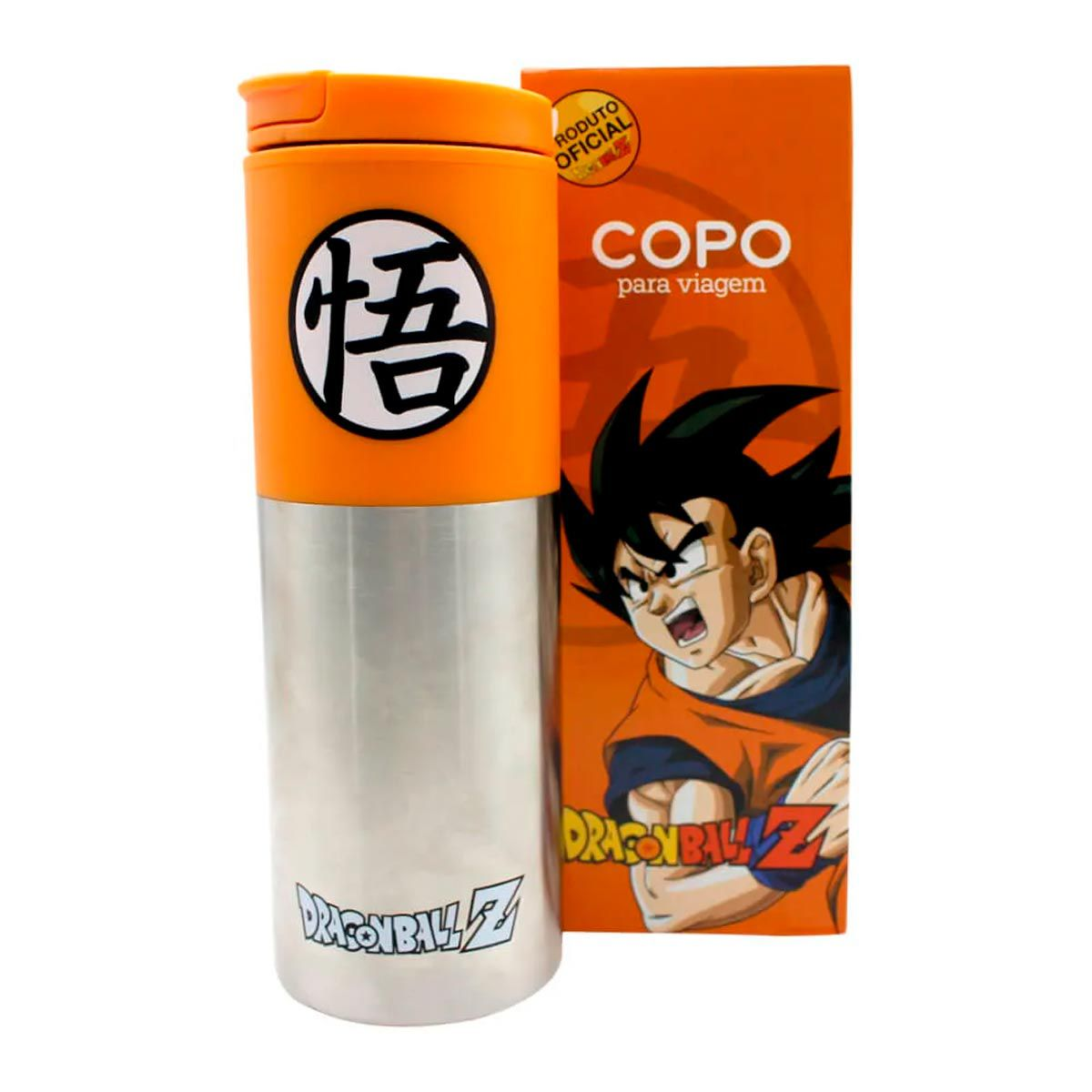 Copo Para Viagem Smart Goku Símbolo Dragon Ball Z 500 ml