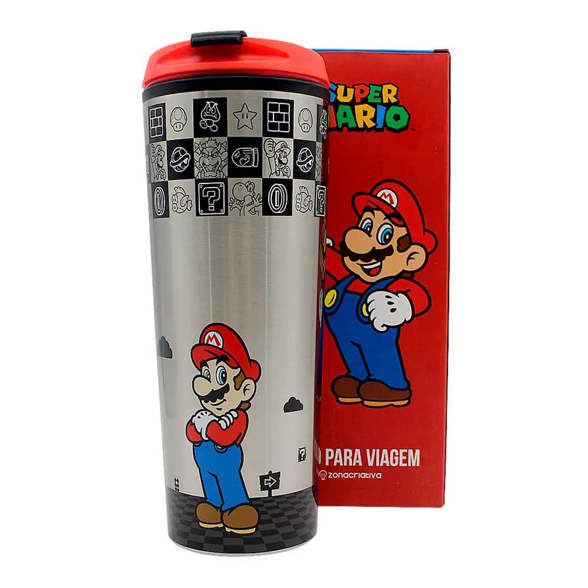 Copo Para Viagem Super Mario Kart 450 ml
