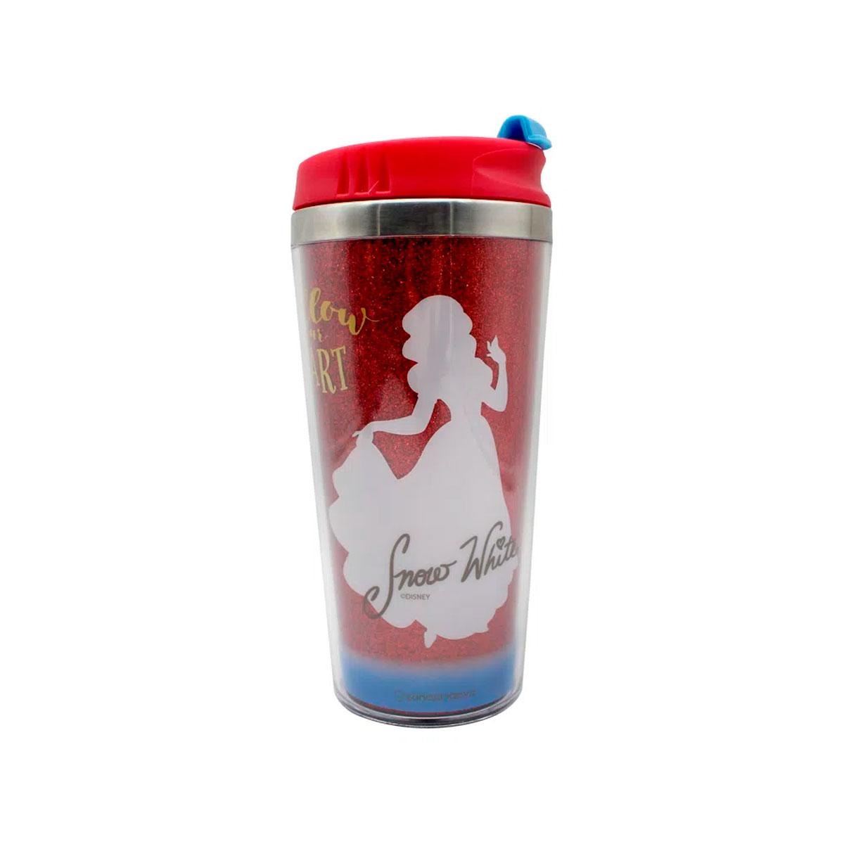 Copo Térmico com Glitter Princesa Branca de Neve Disney FBA