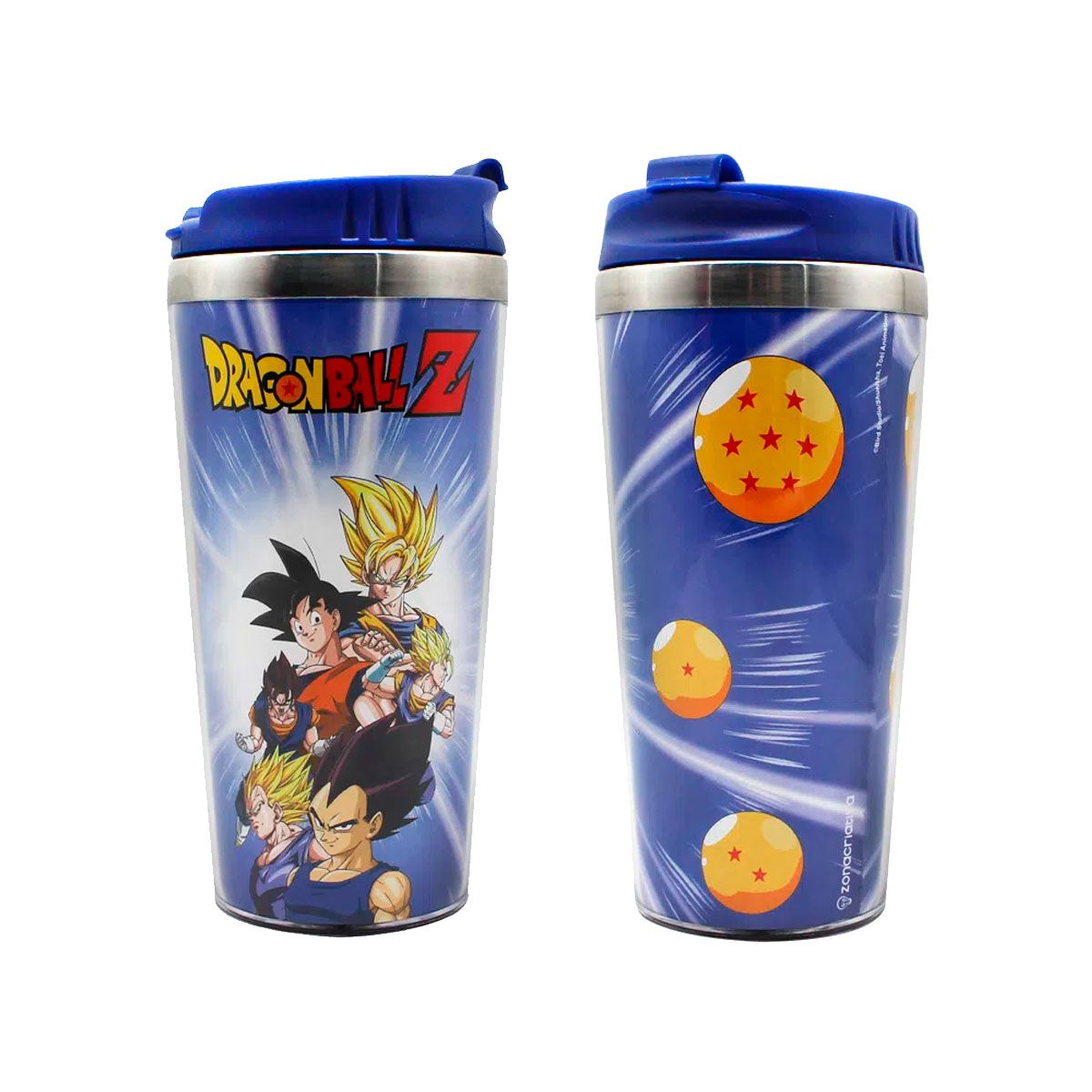 Copo Térmico Dragon Ball Z Goku e Vegeta Saiyajin