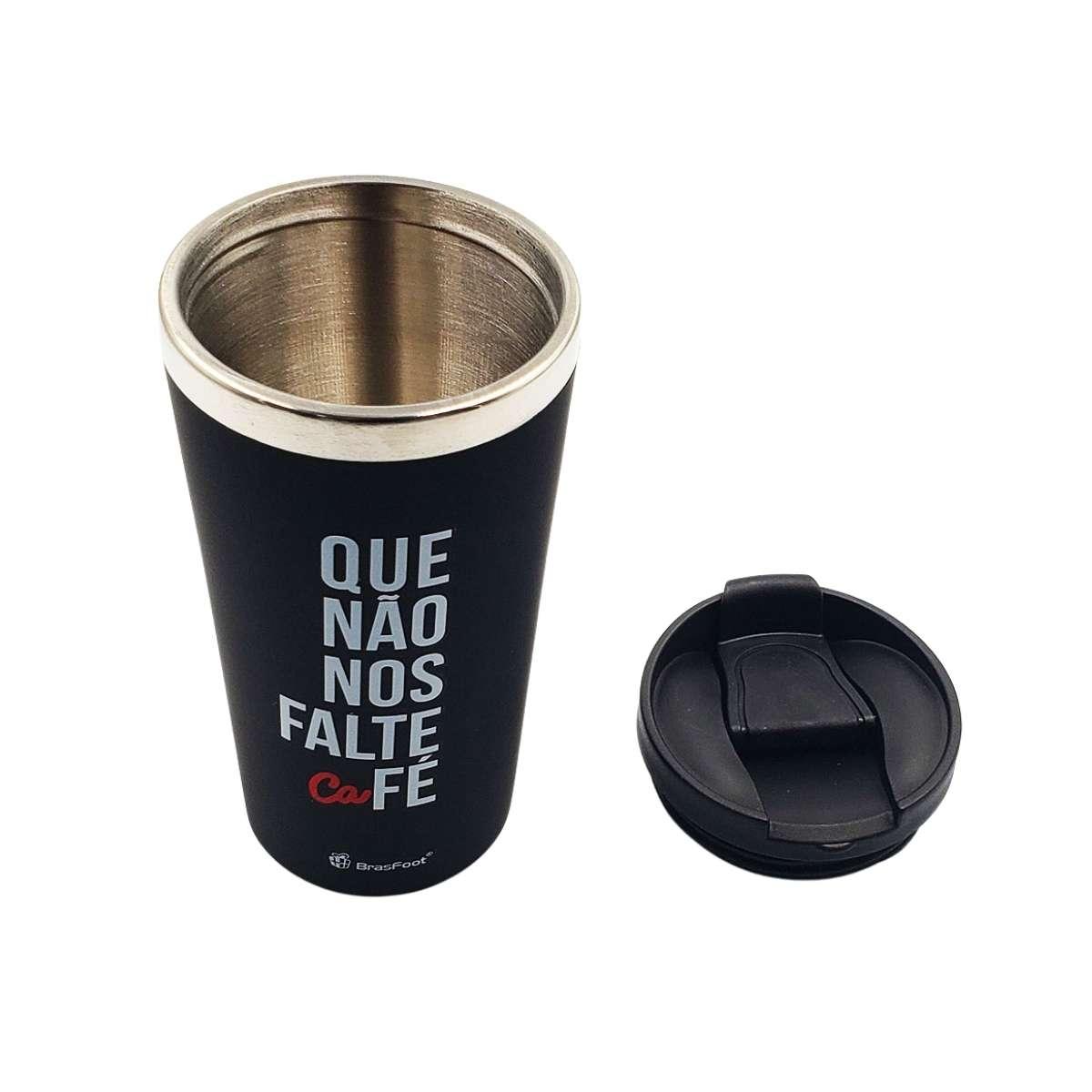Copo Térmico Emborrachado 450 ml Que Não Nos Falte Café