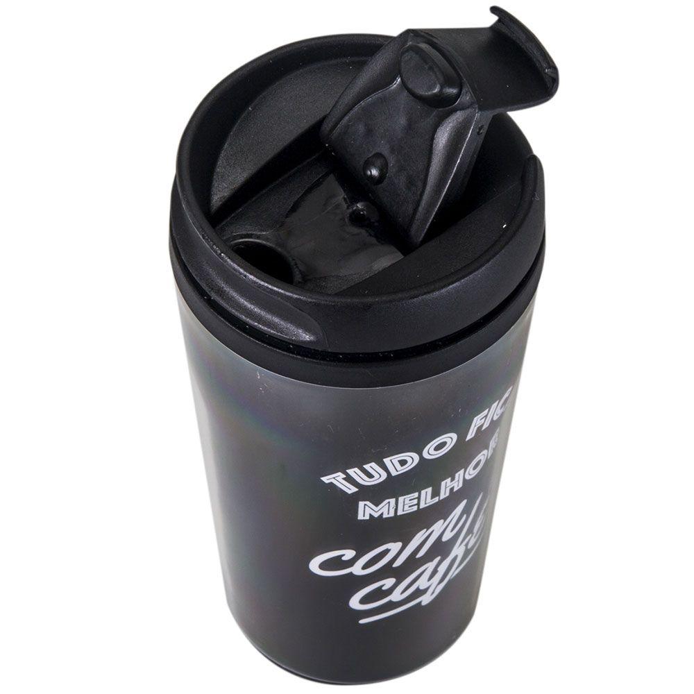 Copo Térmico Pop 200 ml - Tudo Fica Melhor com Café