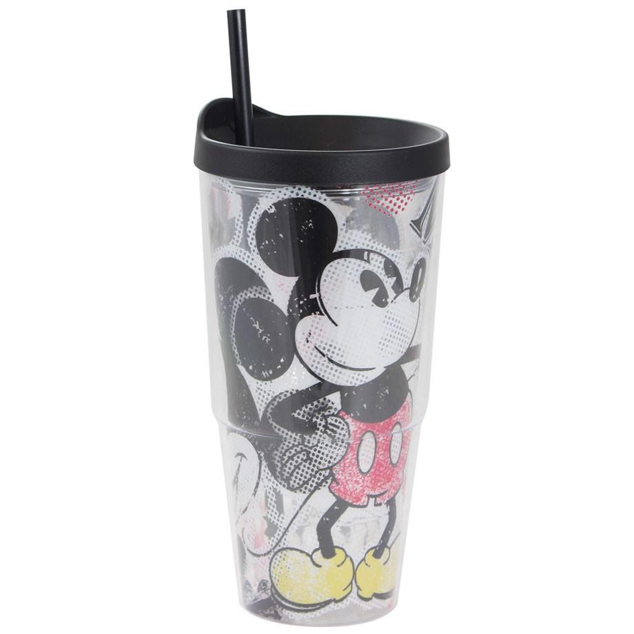 Copo Tumbler com Canudo Mickey