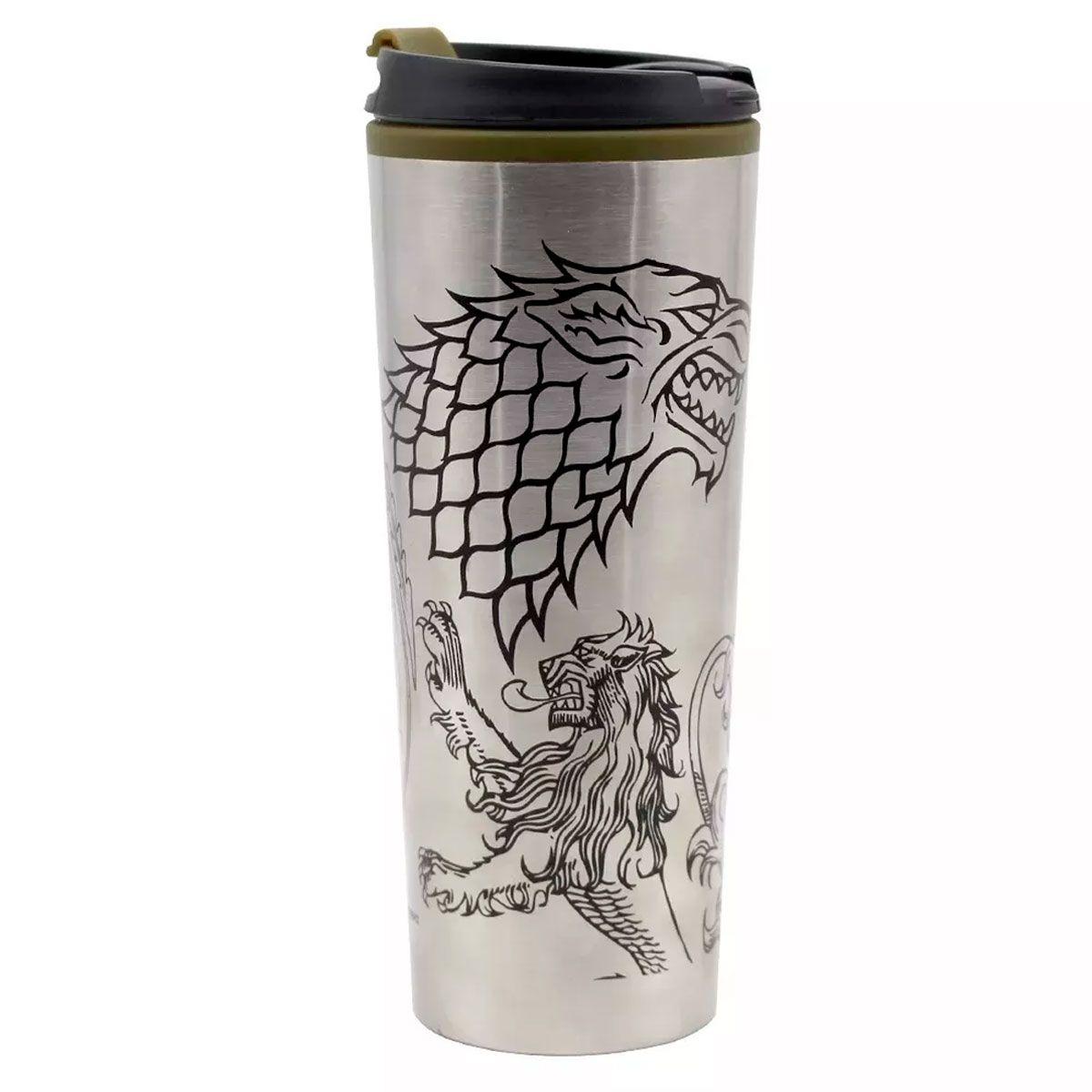 Copo Viagem 450 ml  Game Of Thrones Casas
